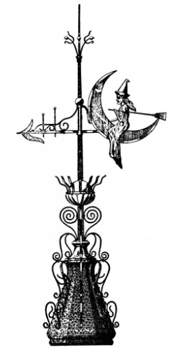 vintage_witch_weather_vane_image__-_the_graphics_fairy